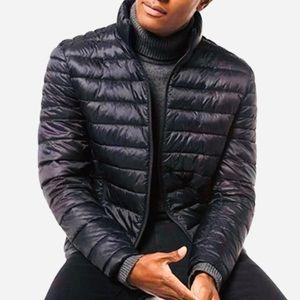 Michael Kors Sz L Jacket Down Nylon Packable Black